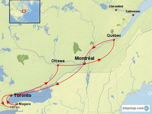 Bien-aimé Canada - Québec et Ontario - Train - Les grandes villes de l  CZ77