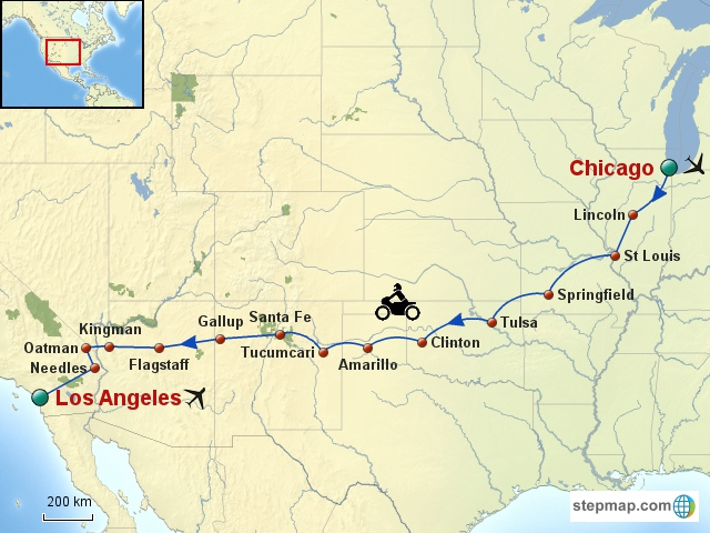 Usa Nord Amp Mid Ouest Circuits 224 Moto Route 66 Relax