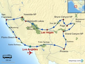 Usa Grand Ouest Autocar Californie Et Canyons